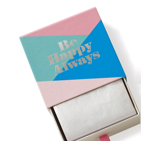 "Fringe Luxury Triple Milled Boxed Soap ""Be Happy Always"""