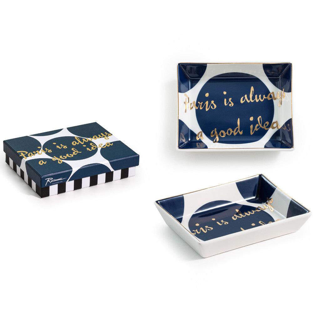 "Rosanna Porcelain Tray ""Paris Is Always A Good Idea"""