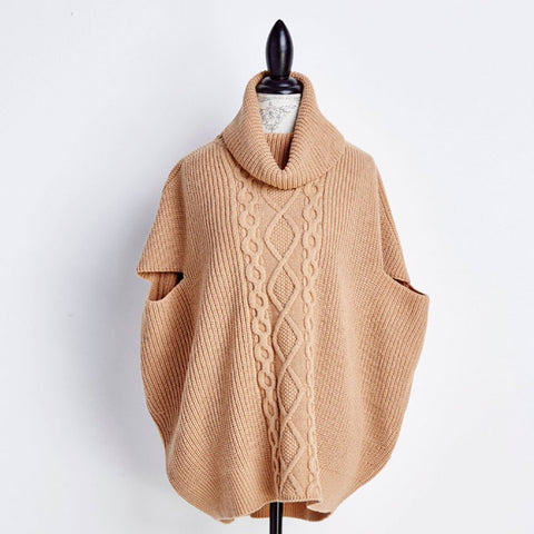 Modern Cape Short Sleeve Sweater