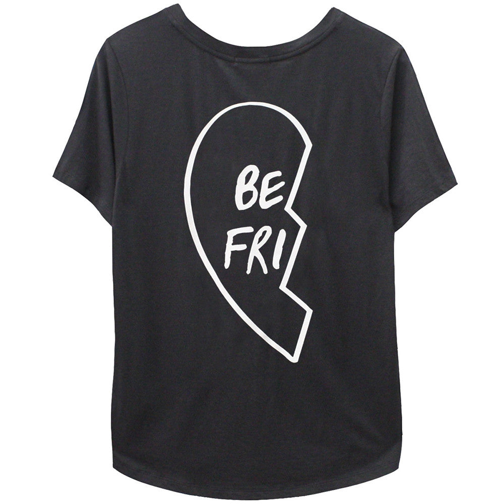 Best Friend Tee Shirt Black Left Side