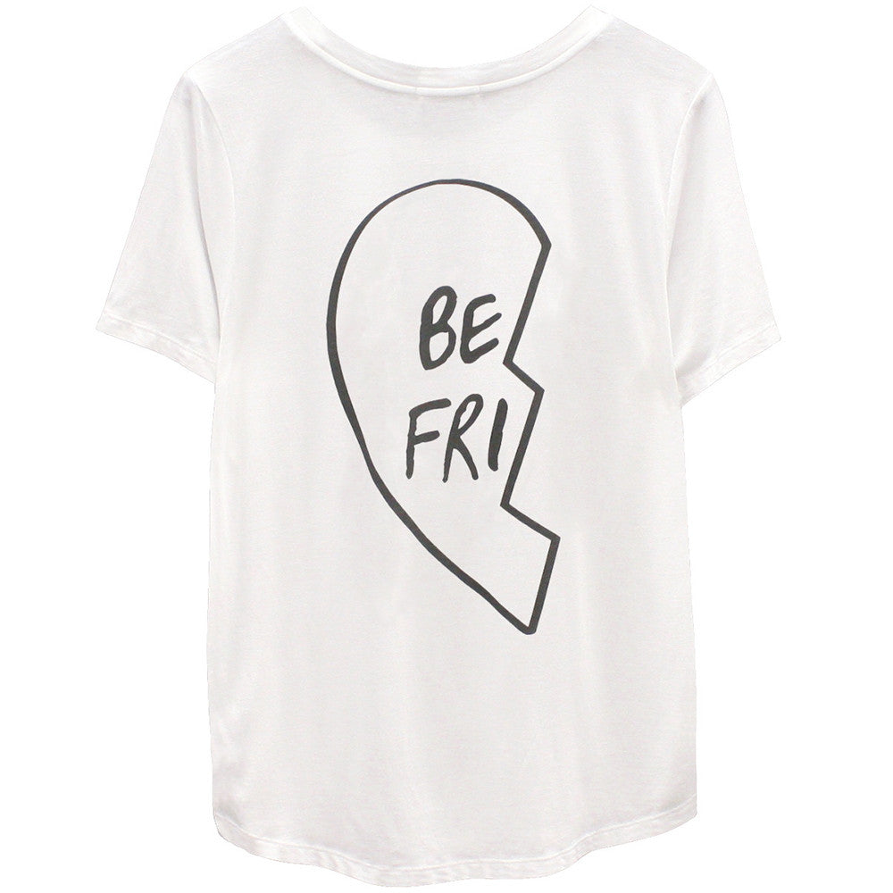 Best Friend Tee Shirt White Left Side