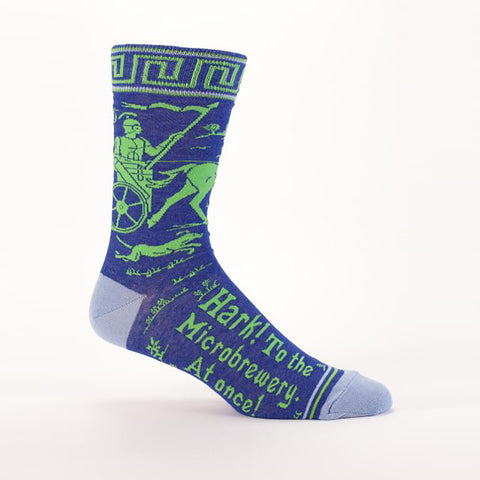 Hark! To The Microbrewery At Once! Men's Crew Socks