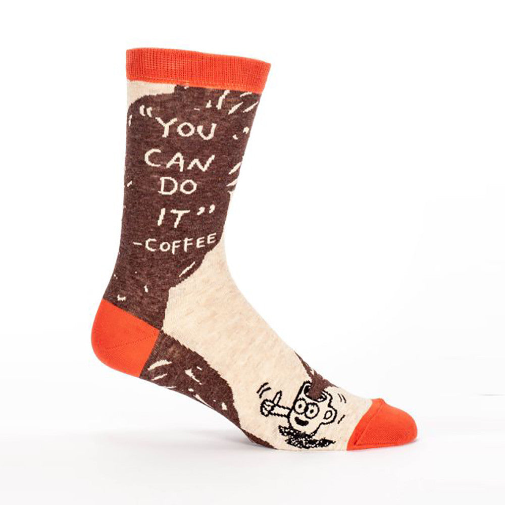 You Can Do It - Coffee Men's Crew Socks