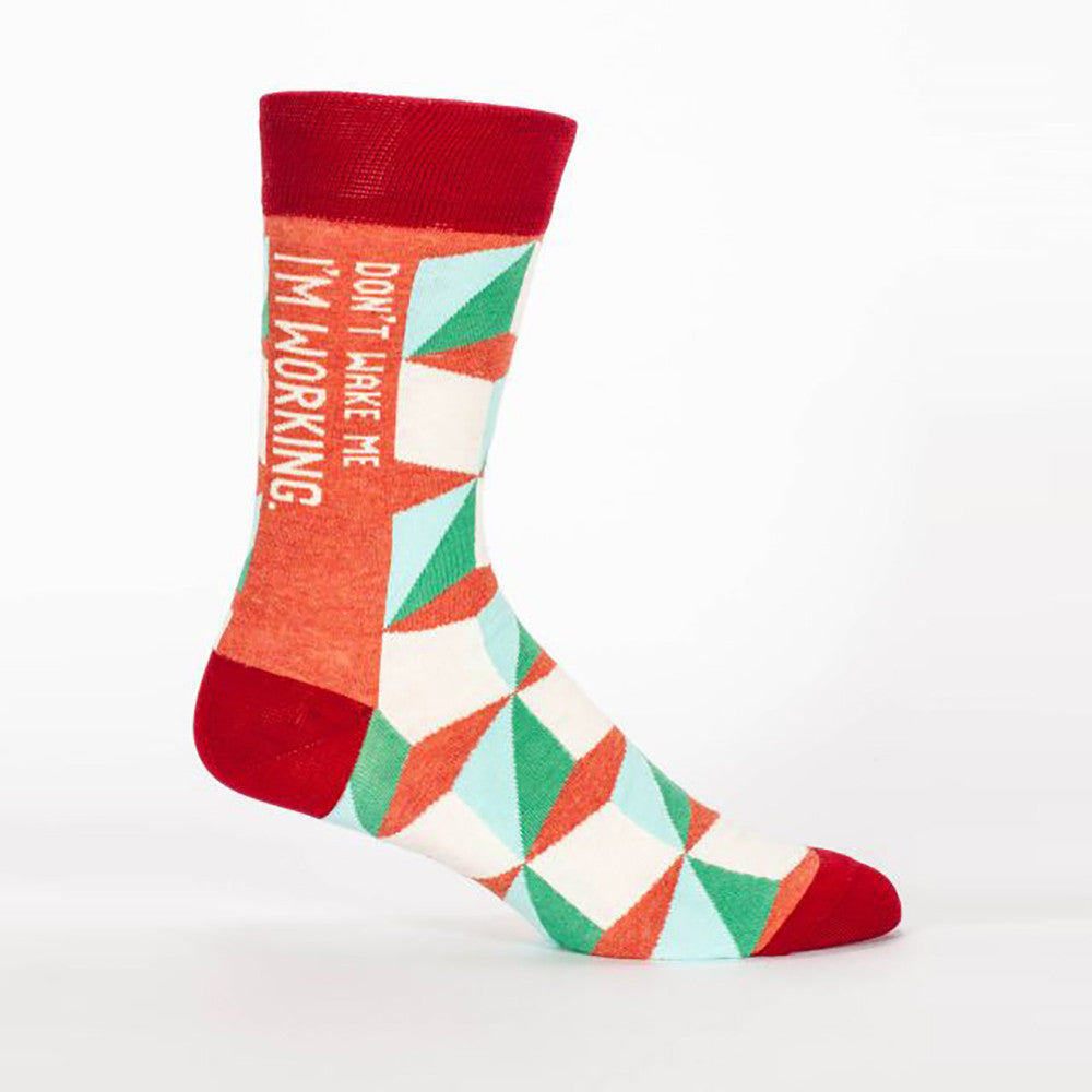 Don't Wake Me I'm Working Men's Crew Socks