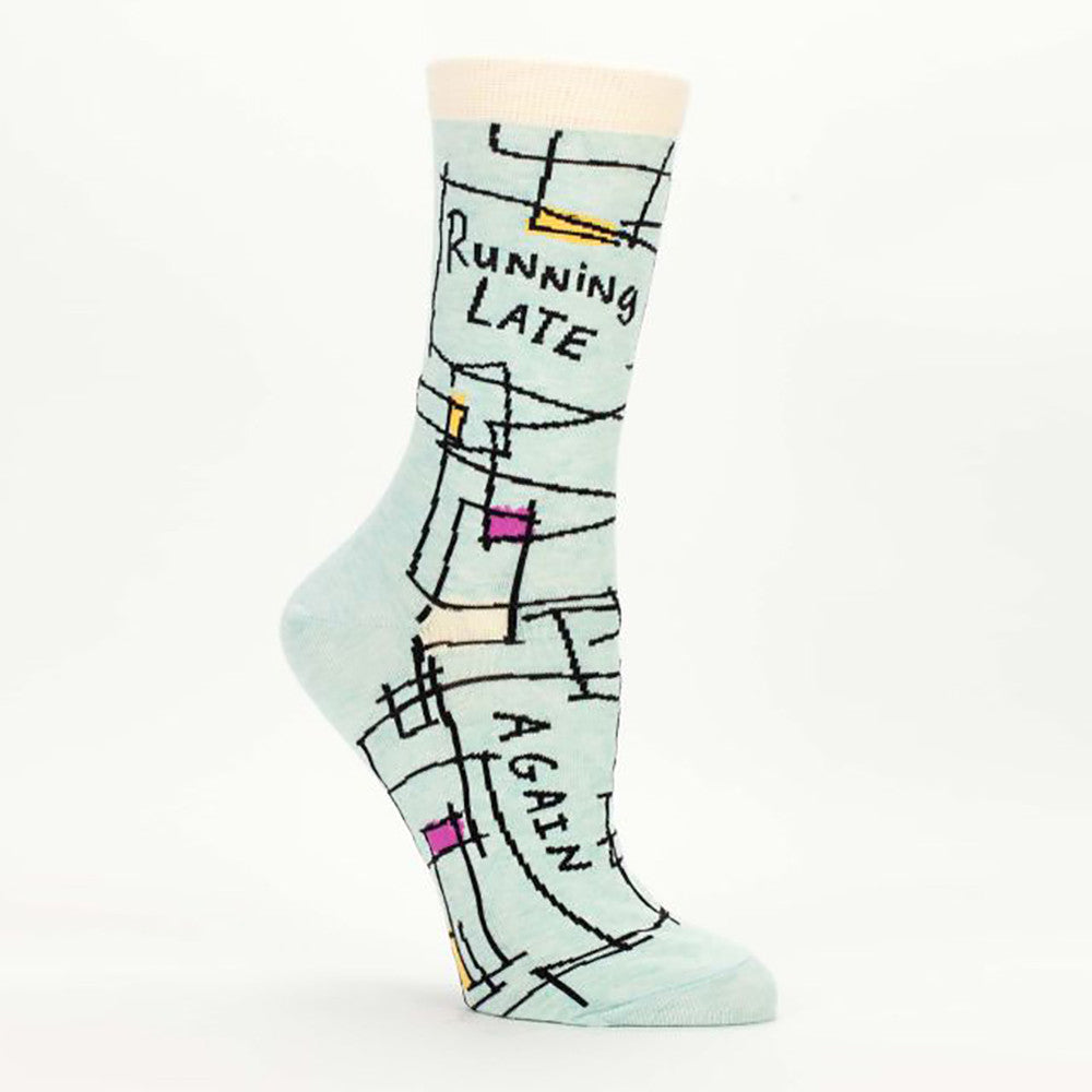 Running Late Again Women's Crew Socks