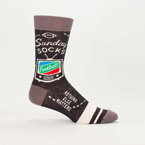 Sunday Socks Football Nothing Else Matters Men's Crew Socks
