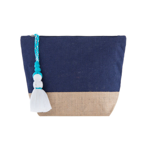 Bright and Happy Cosmetic / Makeup Bag With Tassel