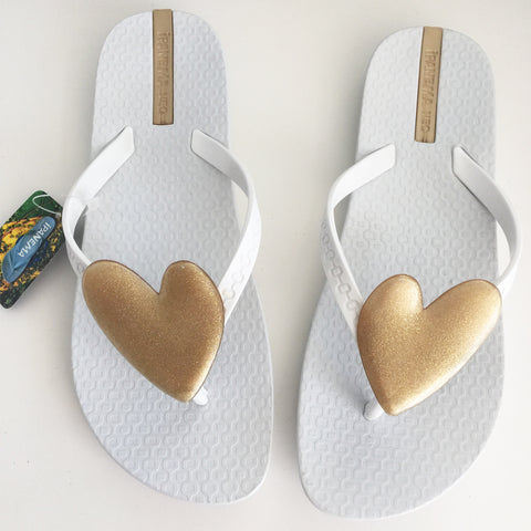 Ipanema Wave Heart Flip Flop