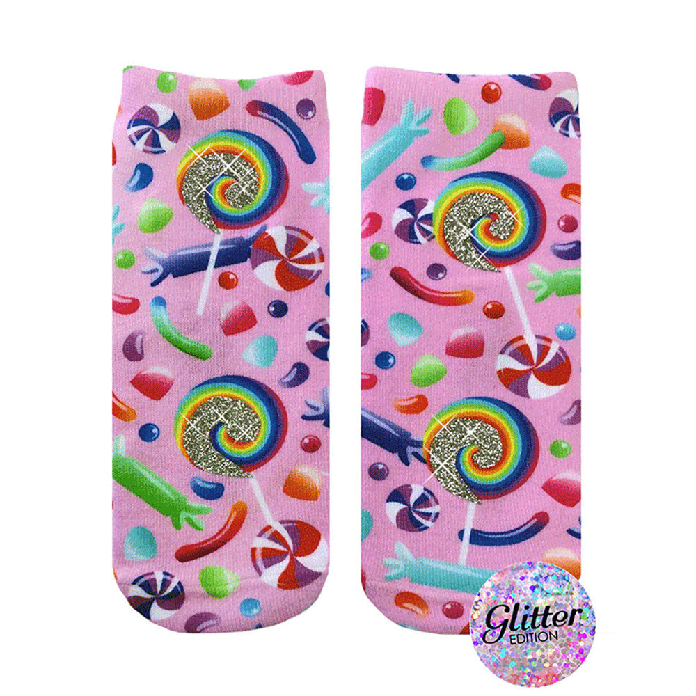 Candy Glitter Ankle Socks