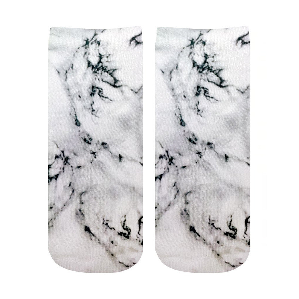 Marble Grey Ankle Socks