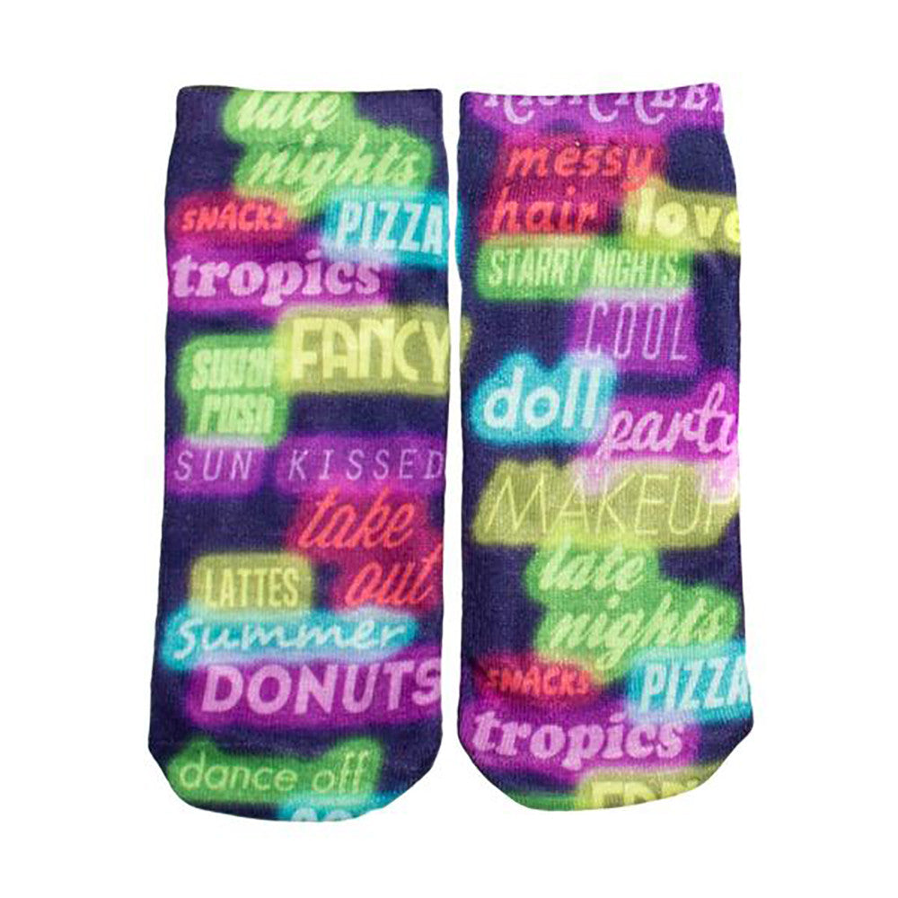 Neon Lights Ankle Socks