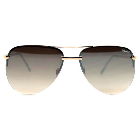 "Quay Sunglasses ""The Playa"" Gold/Brown Mirror"