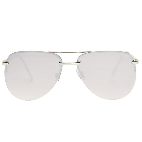 "Quay Sunglasses ""The Playa"" Silver/Silver Mirror"