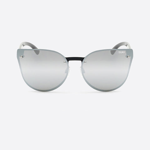 "Quay Sunglasses ""Higher Love"" - Black/Silver Mirror"