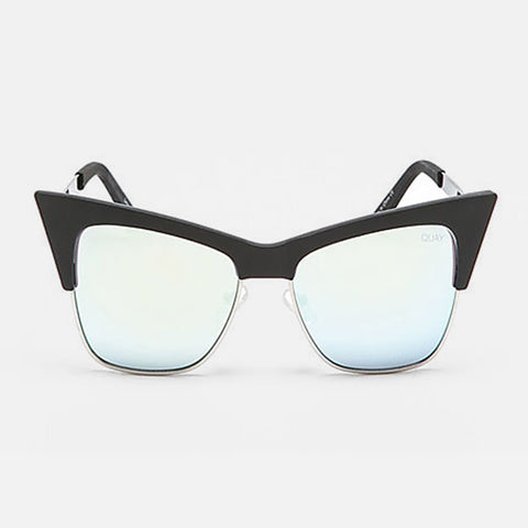 "Quay Sunglasses ""T.Y.S.M"" - Black/Mint Mirror"