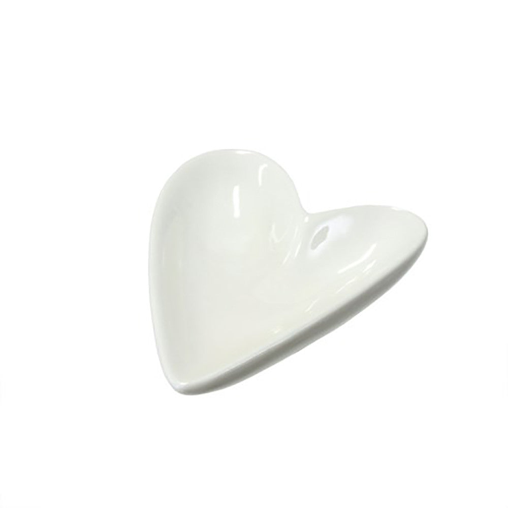 Small Porcelain Heart Jewelry Dish