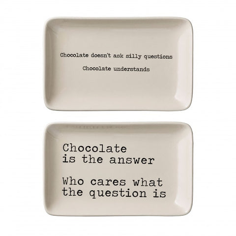 Ceramic Plates With Quotes - Set Of 2