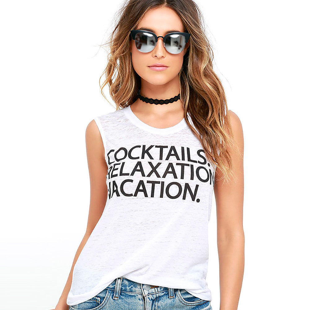 Cocktails Vacation Relaxation Muscle Tee - Chaser