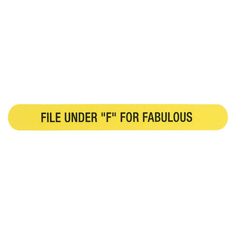 "Nail File - File Under ""F"" For Fabulous"