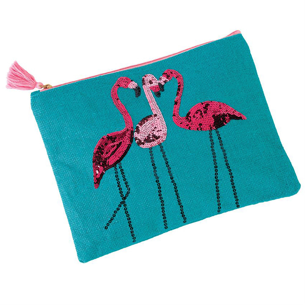 Flamingo Sequin Carry All Case