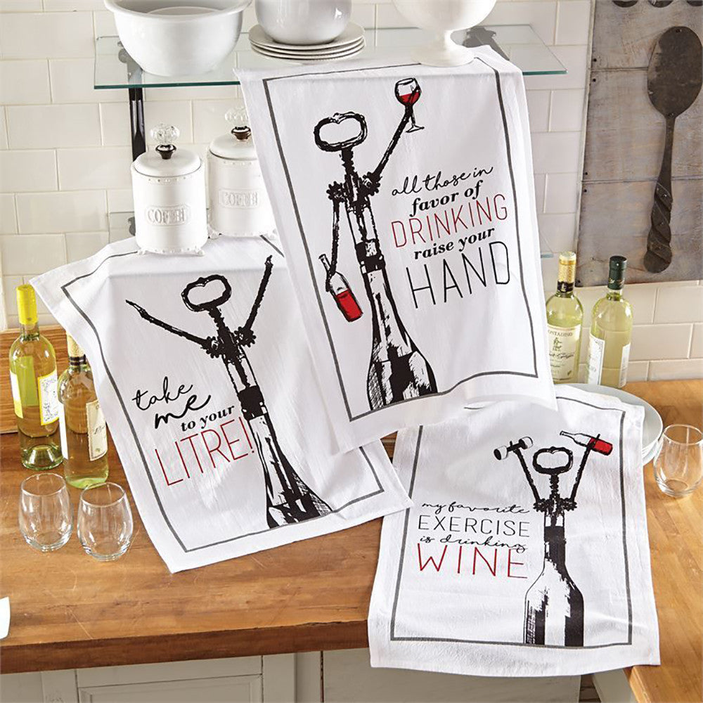 All Those In Favour Of Drinking Raise Your Hand   Flour Sack Kitchen Towels