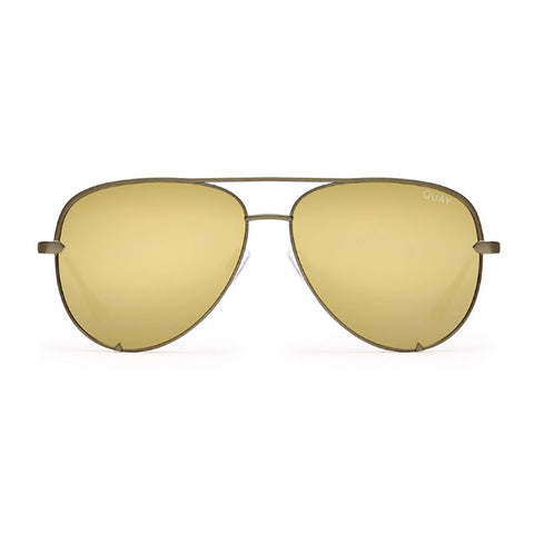 "Quay Sunglasses ""High Key"" Quay X Desi Collab - Green/Gold"