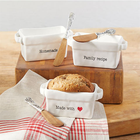 Ceramic Mini Loaf Set