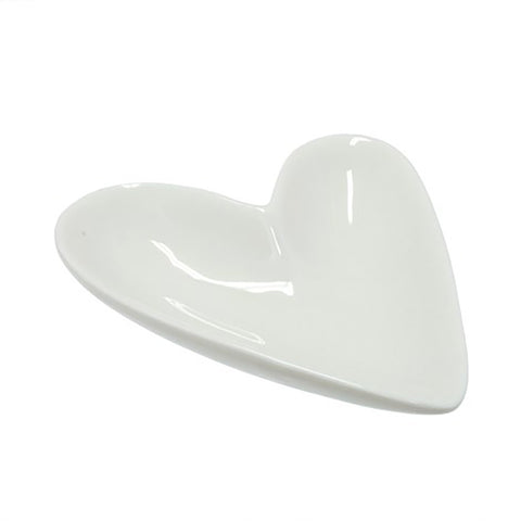 Large Porcelain Heart Jewelry Dish