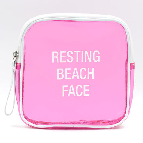 Makeup Bag - Resting Beach Face