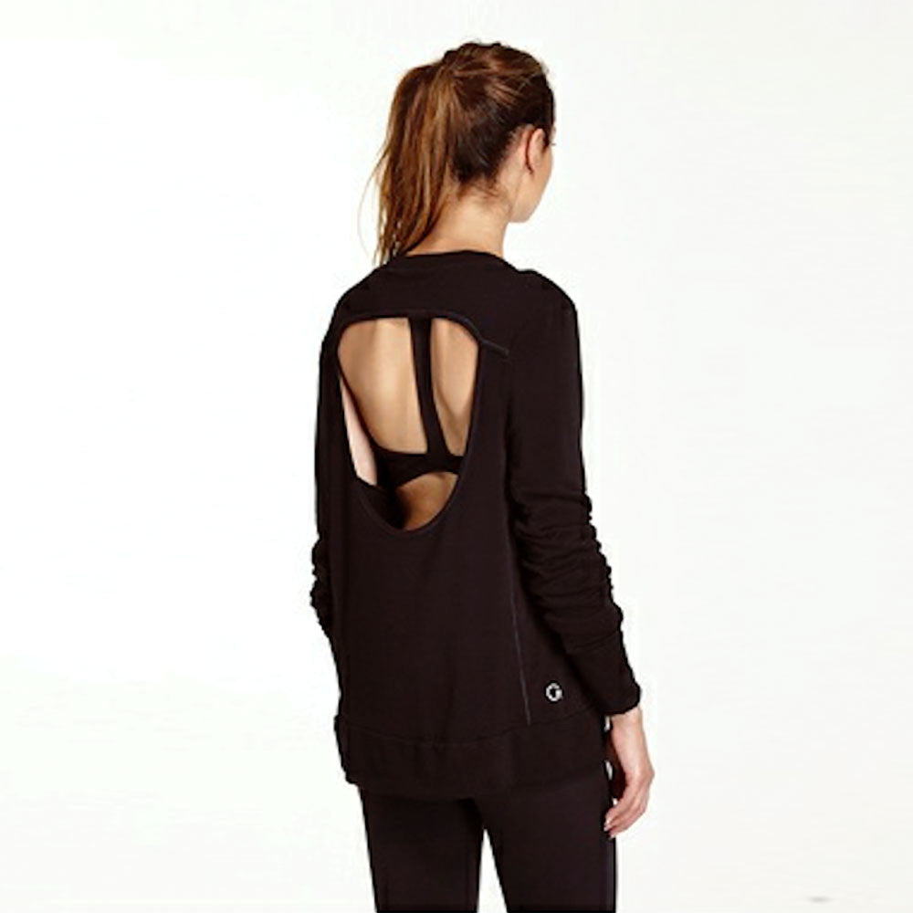 Good hYOUman Jules Open Back Long Sleeve Sweatshirt