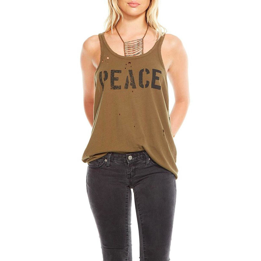 Vintage Military Style Peace Tank - Deconstructed