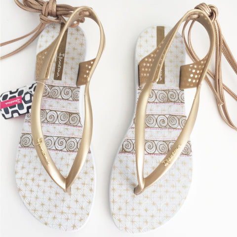 Ipanema Pharaoh Gold Flip Flop