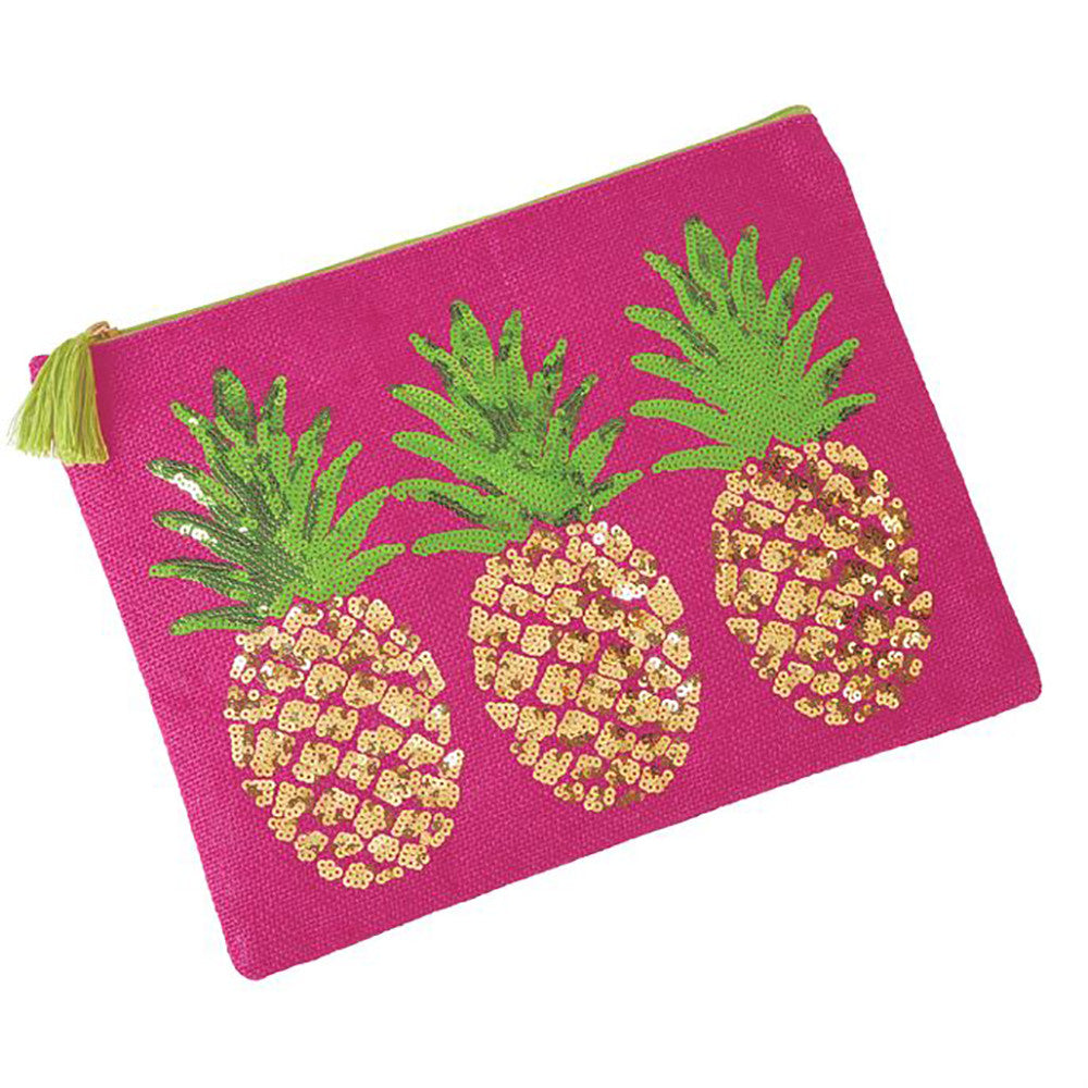 Pineapple Sequin Carry All Case