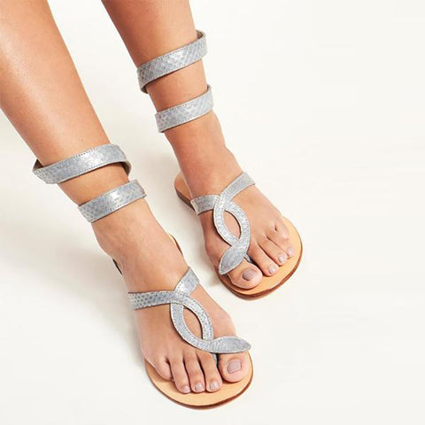 Snake Wrap Sandals - L Space