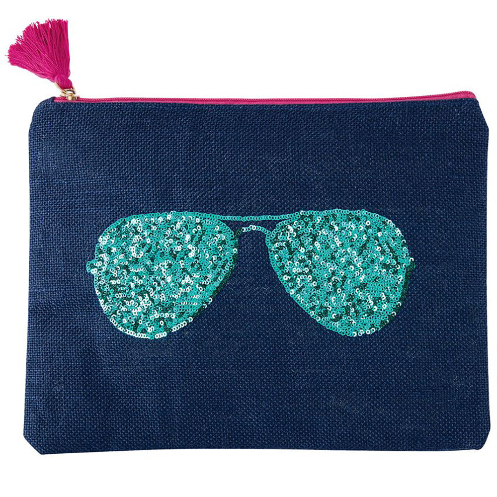 Sunglasses In Sequins Carry All Case