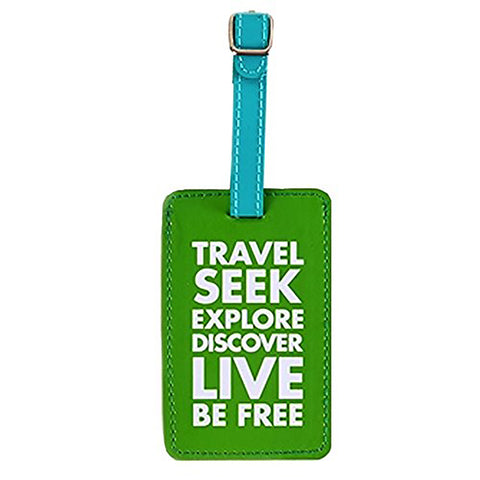 Luggage Tags Travel Seek Explore Discover Live Be Free