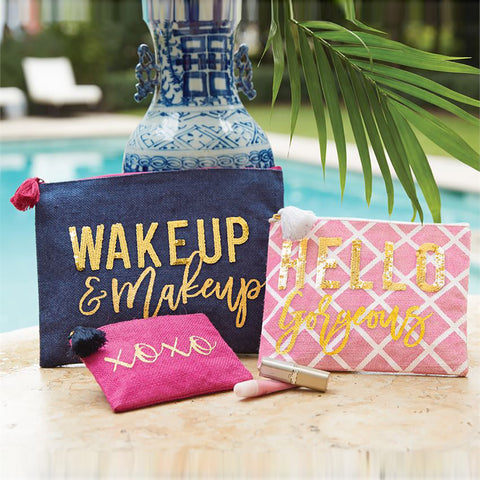 Wake Up And Makeup - Sequin Makeup Case Set of 3