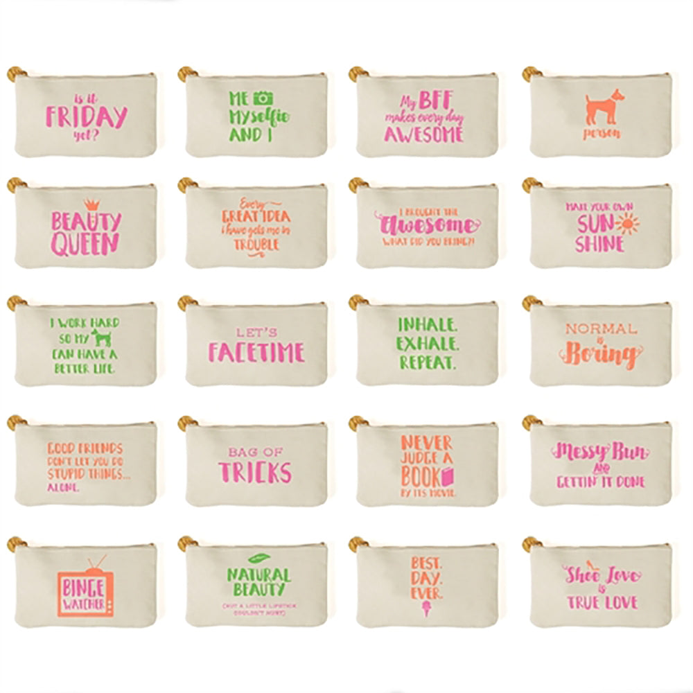 Say Something Multi Purpose Zippered Bag