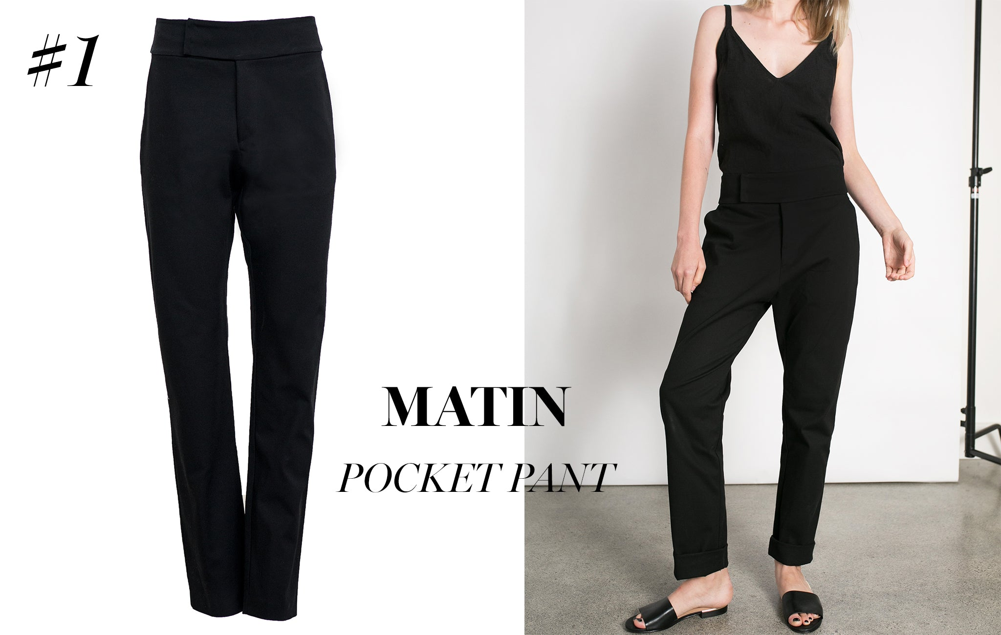 Matin Pocket Pant from The UNDONE