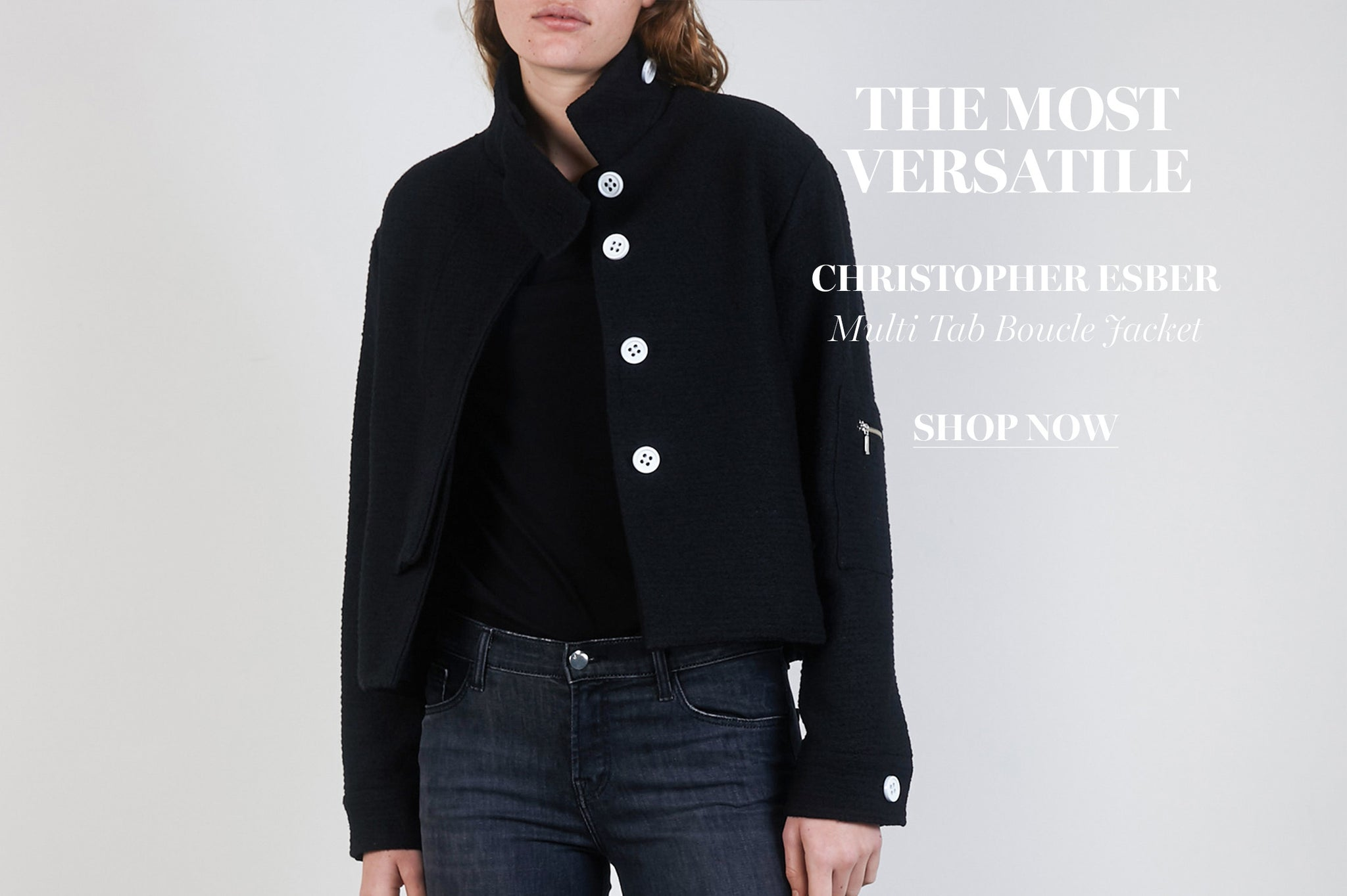 Christopher Esber Multi Tab Boucle Jacket From The UNDONE Store