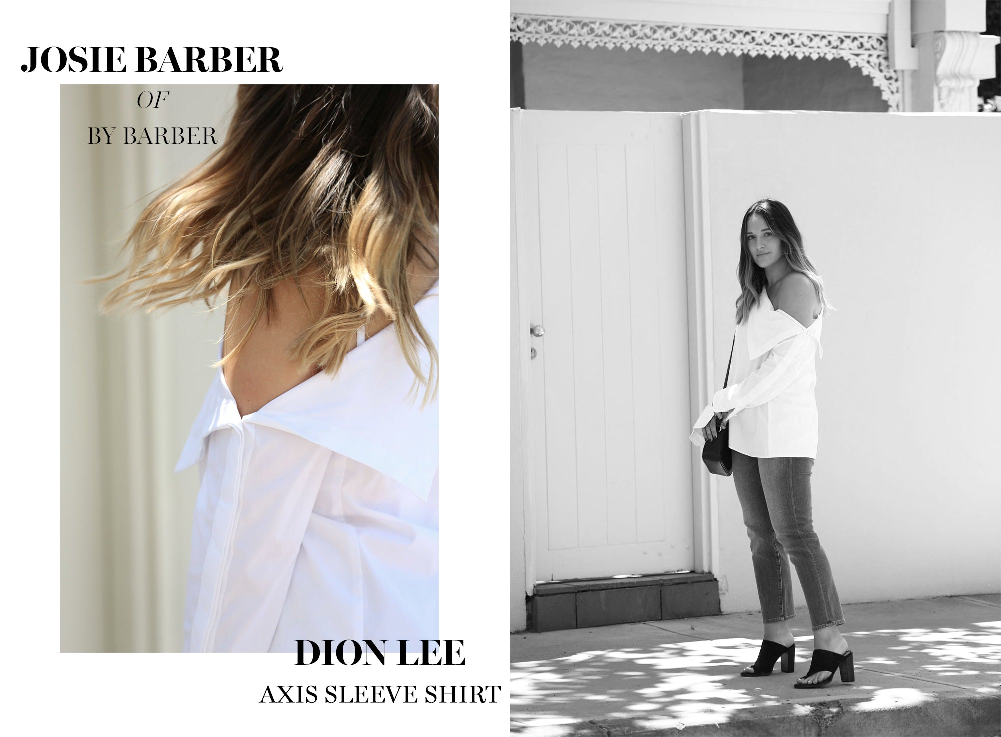 Josie Barber wearing Dion Lee from The UNDONE