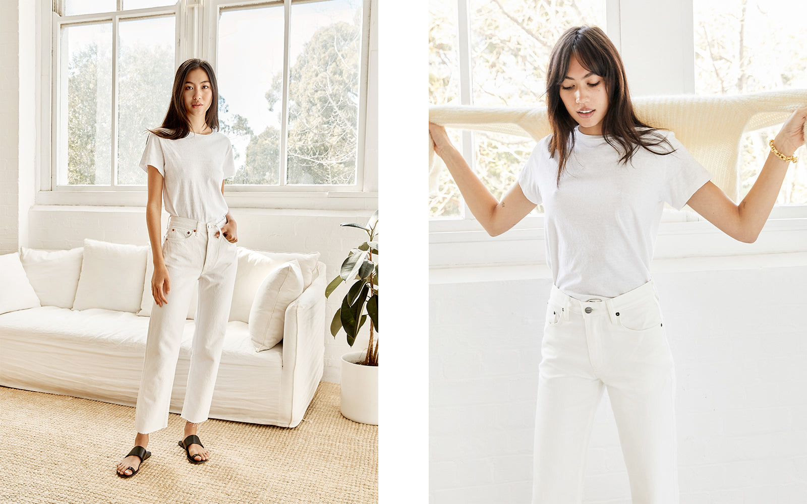 Outfit repeating: all white
