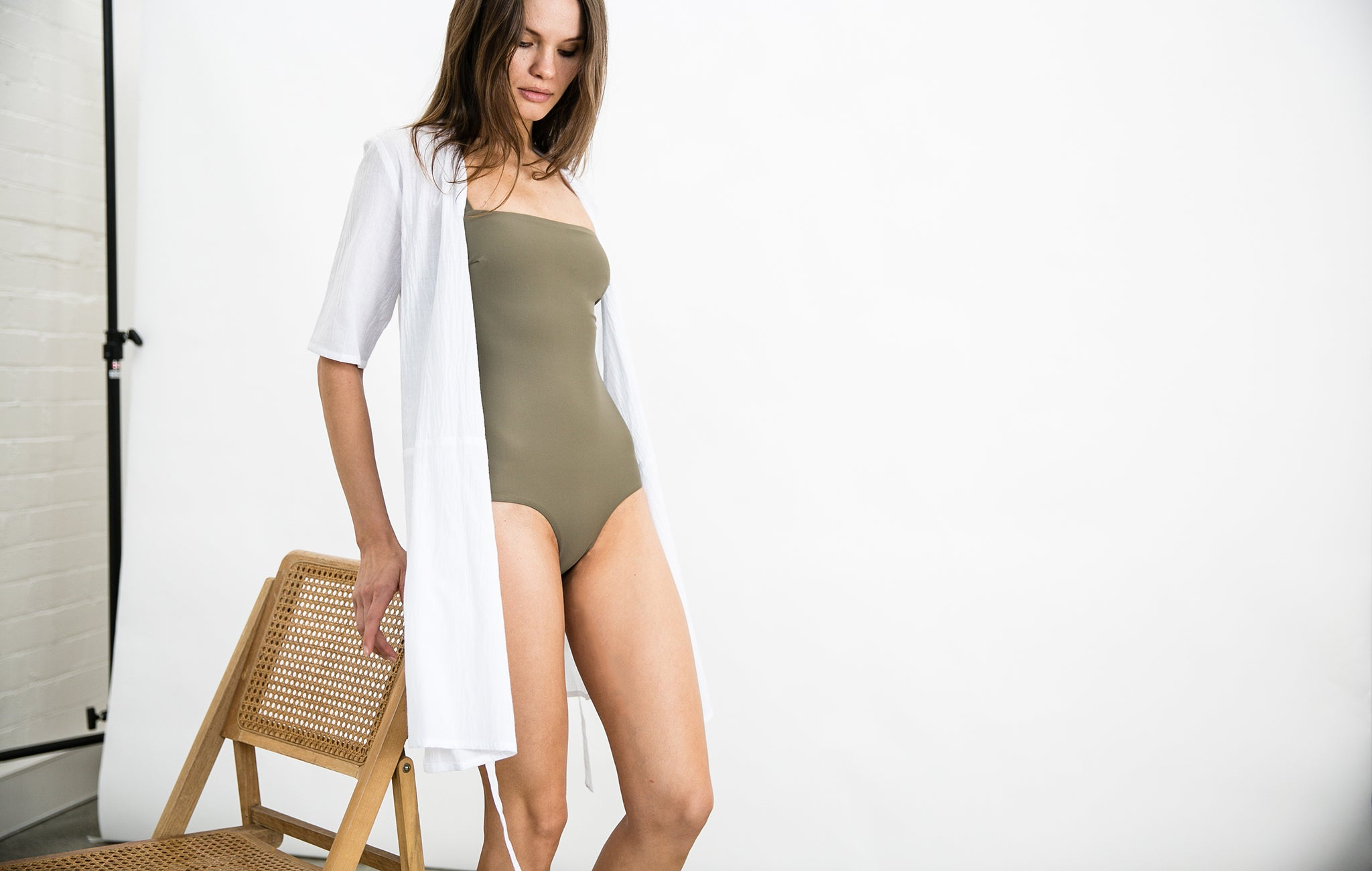 Matteau Swim and Matin Wrap around dress