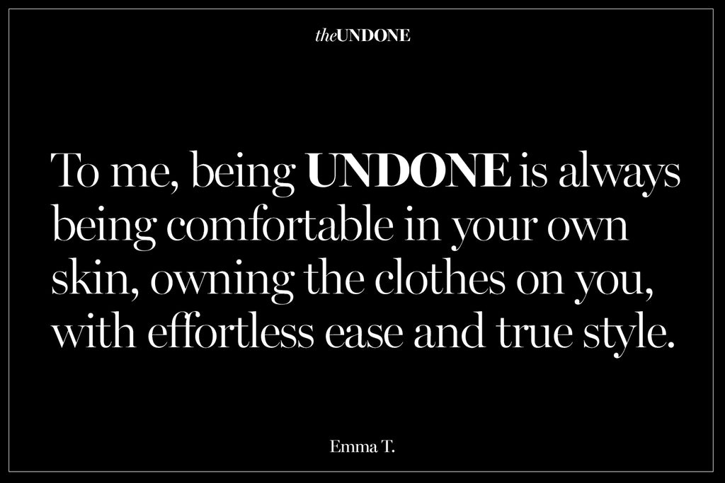 What does undone mean to you?