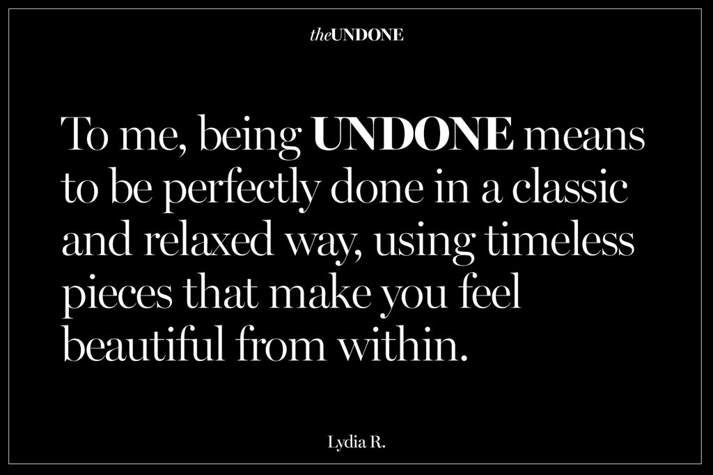 What does being undone mean to you?