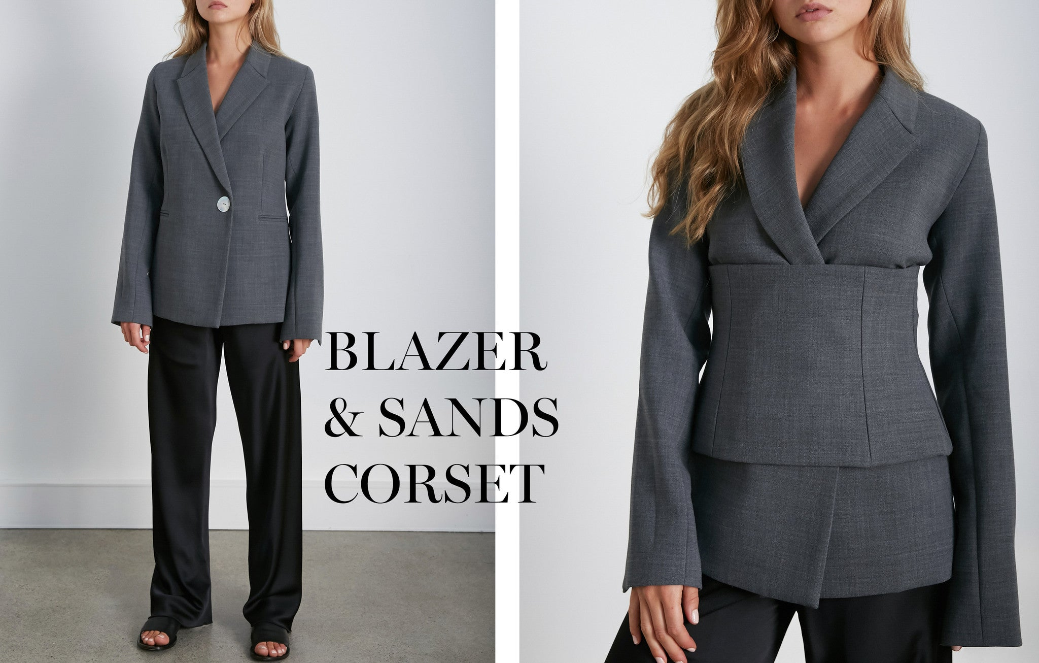Georgia Alice Blazer with Sands Corset in Grey
