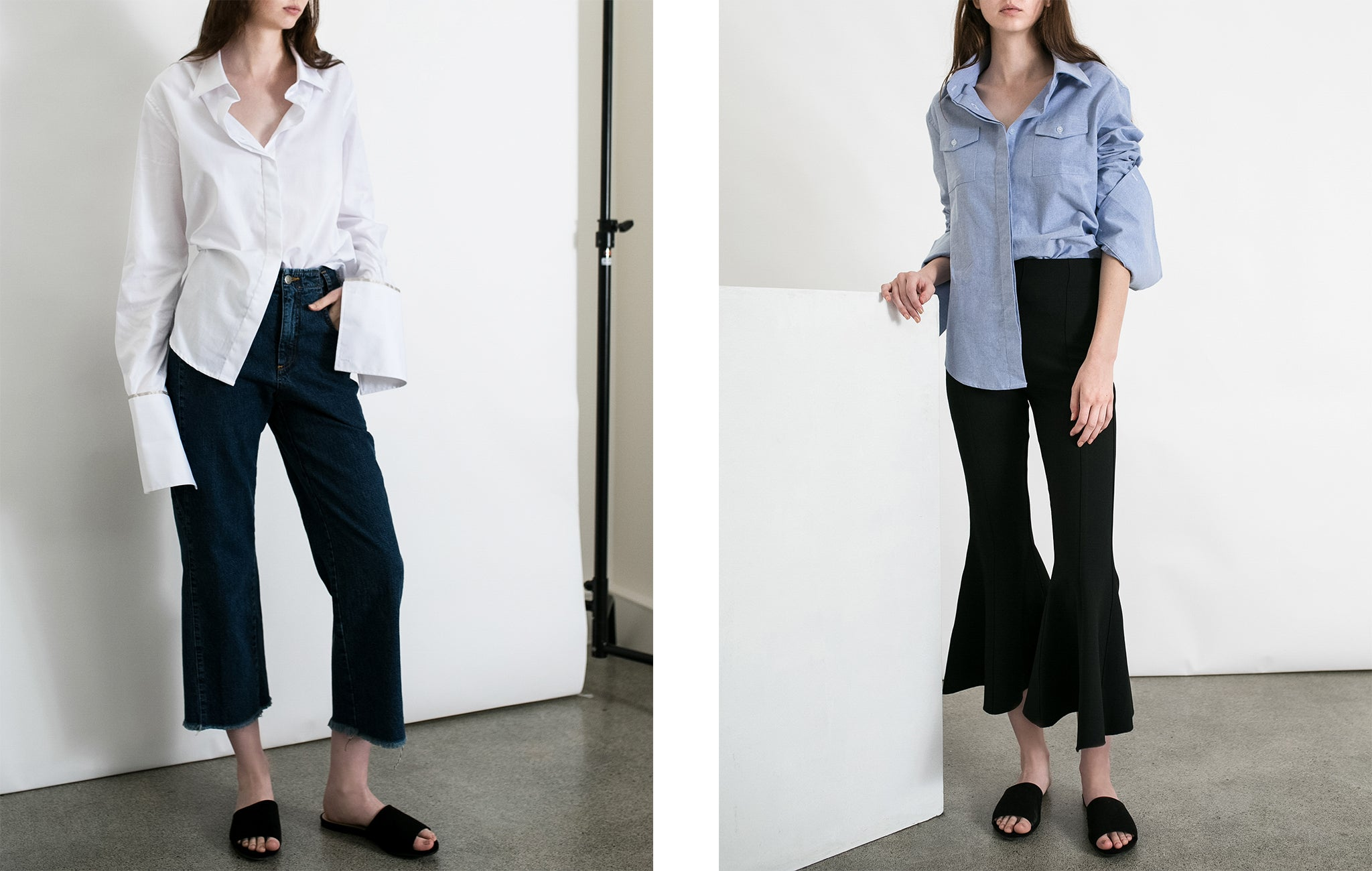 the half tuck anna quan shirting at the undone