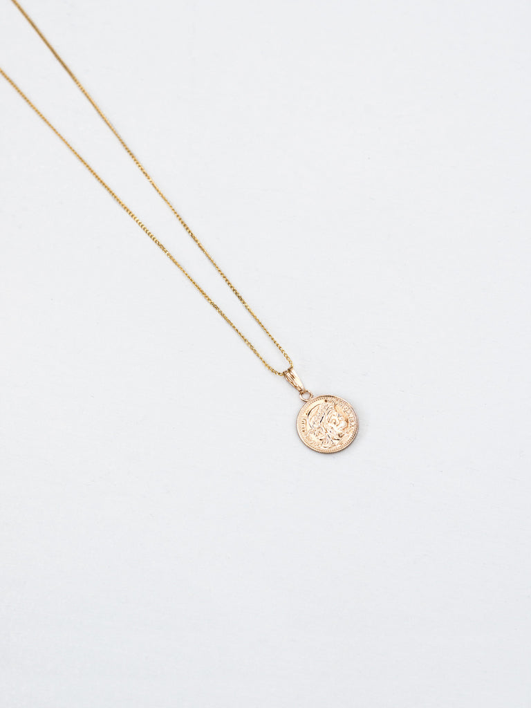 pendant jewellery products reliquia lucky coin mini gold