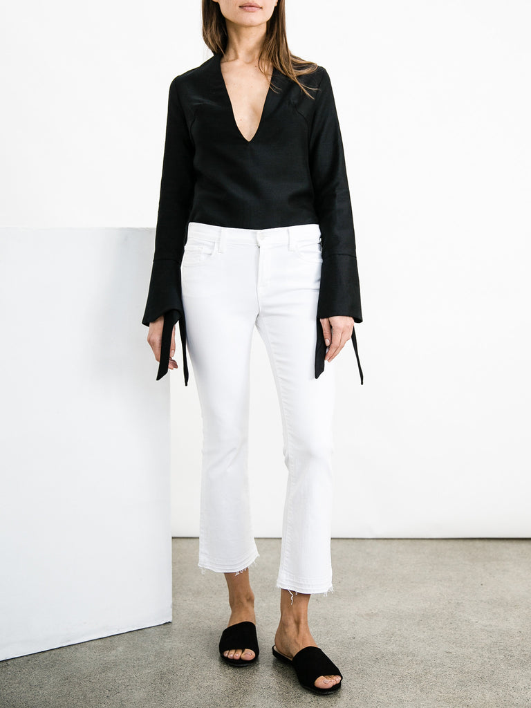 65d608cee13 J BRAND | Selena Mid-Rise Crop Bootcut in White Blanc | The UNDONE ...