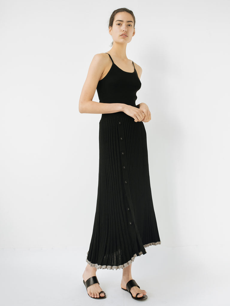 5e40e164d Christopher Esber   Pleated Knit Skirt in Black   The UNDONE by ...